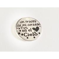 Entrepieza ACERO INOX Un trocito de mi corazon... 20mm (AE002)