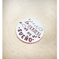 Entrepieza ACERO INOX La musica es mi sueño 20mm (AE002)