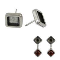 Base pendiente Zamak 12x12 rombo para cristal 8x8 mm - 1 par
