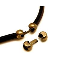 Cierre clip ovalado redondo ZAMAK para regaliz ( bronce)