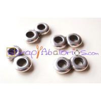 Separador ZAMAK anilla paso doble 14x7 mm, taladro 3.5 mm -5 uds