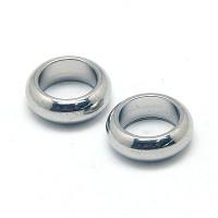 Aro rondel acero inoxidable redonda 8x2.5 mm Talad 5 mm. 10 uds