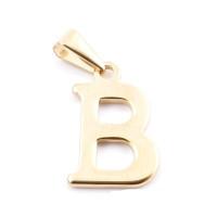 Inicial acero dorado - Letra B - Colgante 2 cm aprox