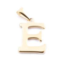 Inicial acero dorado - Letra E - Colgante 2 cm aprox