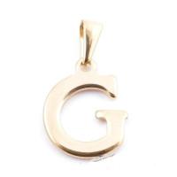 Inicial acero dorado - Letra G - Colgante 2 cm aprox