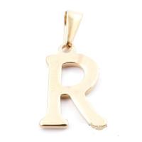 Inicial acero dorado - Letra R - Colgante 2 cm aprox