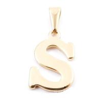 Inicial acero dorado - Letra S - Colgante 2 cm aprox