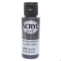 Pintura acrílica Artis decor Acryl-Art - 60 mL - Negro