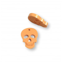 Plexy naranja pastel - Colgante calavera 20 mm, int 1.2 mm