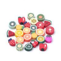 Abalorio frutas de fimo 9x7mm aprox (20 uds) sin taladro