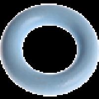 Aro pequeño de madera 35x9 mm, interior 18 mm - Color Azul bebe 18