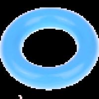 Aro pequeño de madera 35x9 mm, interior 18 mm - Color Azul celeste 19