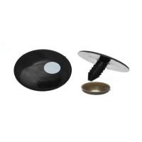 Ojos de plastico negros 27x17 mm - 2 uds