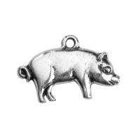 Colgante charm cerdo 20x13 mm