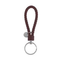 Llavero simil cuero  14.2 cm Color marron (incluye chapa grabable)