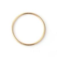 Aro cerrado bisuteria dorado 34 mm, grosor 1.9 mm