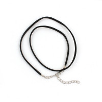Cordon base collar antelina negro 47 cm