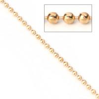 Cadena bolas bolitas de acero dorado 1.5 mm - 1 metro