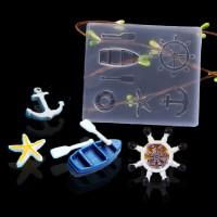 Molde de silicona 70x60 mm - Motivos marinero verano - 7 piezas