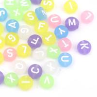 Abalorio redondos abecedario colores PASTEL FROST mix 7 mm (250 uds)