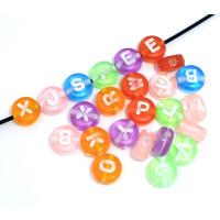 Abalorio redondos abecedario colores 7 mm (200 uds)