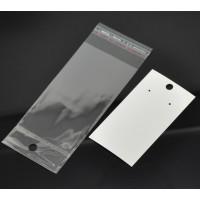 Expositor venta pendientes  y bolsa adhesiva  15x6  mm (100 uds)