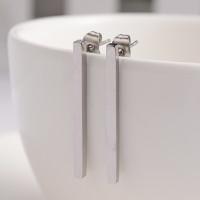 Pendientes barra de acero inoxidable 30x2 mm