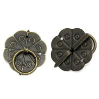 Tiradores bronce labrados 32x29 mm para caja madera, album, etc..4 unidades