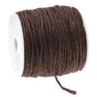 Cordon cuerda esparto yute 1 mm. Color chocolate ( 1 m)