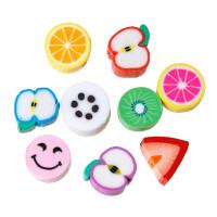 Abalorio frutas y figuritas de fimo 9-11 mm aprox ( 20 uds)