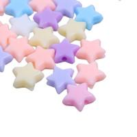 Abalorios estrellas colores pastel 11x10 mm, int 1.6 mm ( 50 uds mix)