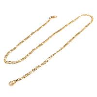 Cuelgamascarillas acero dorado lisa con eslabones 5x4 mm - Largo 54 cm