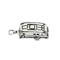 Caravana autocaravana  - Colgante charm plateado 25x9 mm, int 2 mm