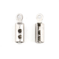 Terminal acero inoxidable abierto 10x3 mm Int 2.4 mm - 10 uds