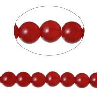 Hilera gemas Agata roja 6 mm 38.2 cm (64 pcs)