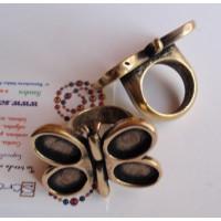 Base anillo ZAMAK bronce Modelo Mariposa 38x30x25 mm