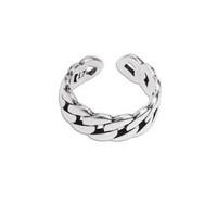 Base anillo ZAMAK baño plata 17 mm. Modelo cadena