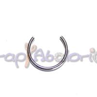 Base anillo Latón baño plata  Talla 18 mm 22 mm Grosor 2 mm