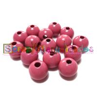 Bolsita 20 bolitas de madera antibaba 10 mm - Color Rosa 04