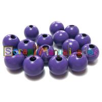 Bolsita 20 bolitas de madera antibaba 10 mm - Color Morado 07