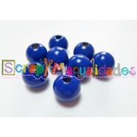Bolsita 20 bolitas de madera antibaba 10 mm - Color Azul Marino 21