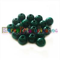 Bolsita 20 bolitas de madera antibaba 10 mm - Color Verde oscuro 29
