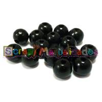 Bolsita 20 bolitas de madera antibaba 10 mm - Color Negro 44