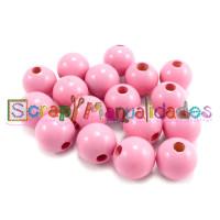 Bolsita 20 bolitas de madera antibaba 8 mm - Color Rosa claro 03
