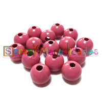 Bolsita 20 bolitas de madera antibaba 8 mm - Color Rosa 04