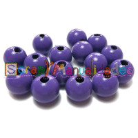 Bolsita 20 bolitas de madera antibaba 8 mm - Color Morado 07