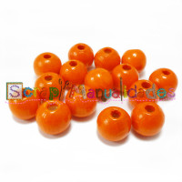 Bolsita 20 bolitas de madera antibaba 8 mm - Color Mandarina 12