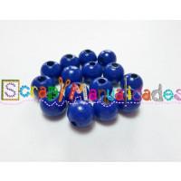 Bolsita 20 bolitas de madera antibaba 8 mm - Color Azul marino 21