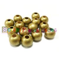 Bolsita 20 bolitas de madera antibaba 8 mm - Color Dorado 24