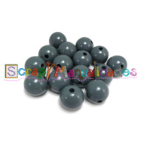Bolsita 20 bolitas de madera antibaba 8 mm - Color Gris 28